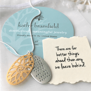 There are Far Better Things Ahead Sterling Silver Necklace | C.S. Lewis | Kathy Bransfield