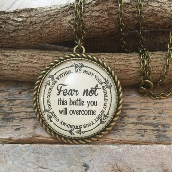 Fear Not This Battle You Will Overcome Necklace | Never Lose Hope