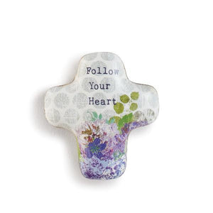 Follow Your Heart Artful Cross Pocket Token