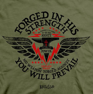 Kerusso Christian T-Shirt | Forged in His Strength