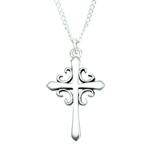 Handcrafted Sterling Silver Christian Necklace | French Cross | Bob Siemon Designs