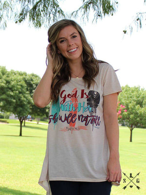 God is Within Her She Will Not Fall Christian Tee | Southern Grace