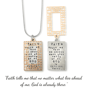 God is Already There Kathy Bransfield Sterling Silver Necklace