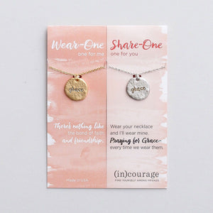 Grace (In) Courage Necklace Set | Wear One Share One | Ephesians 2:7