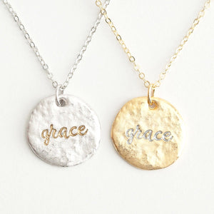 Grace (In) Courage Friendship Necklace Set | Wear One Share One | Ephesians 2:7