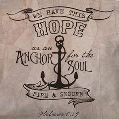 d192b9ca2d Anchor For The Soul Hebrews 6 19 Suede Tote Bag