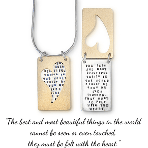The Best and Most Beautiful Things Kathy Bransfield Sterling Silver Necklace | Helen Keller
