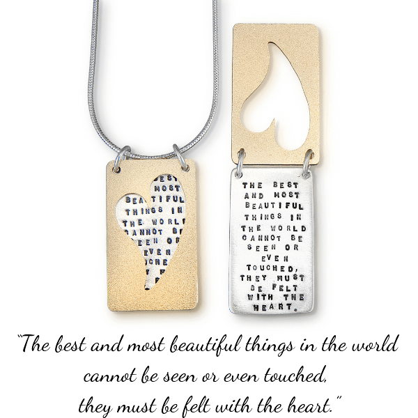 The Best and Most Beautiful Things Sterling Silver Necklace | Helen Keller | Kathy Bransfield