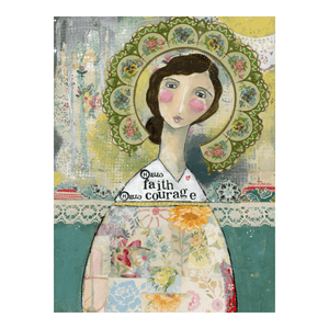Kelly Rae Roberts Hello Faith, Hello Courage Matted Print | Artist Signed