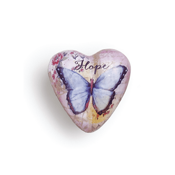 Art Heart Pocket Token | Hope Butterfly