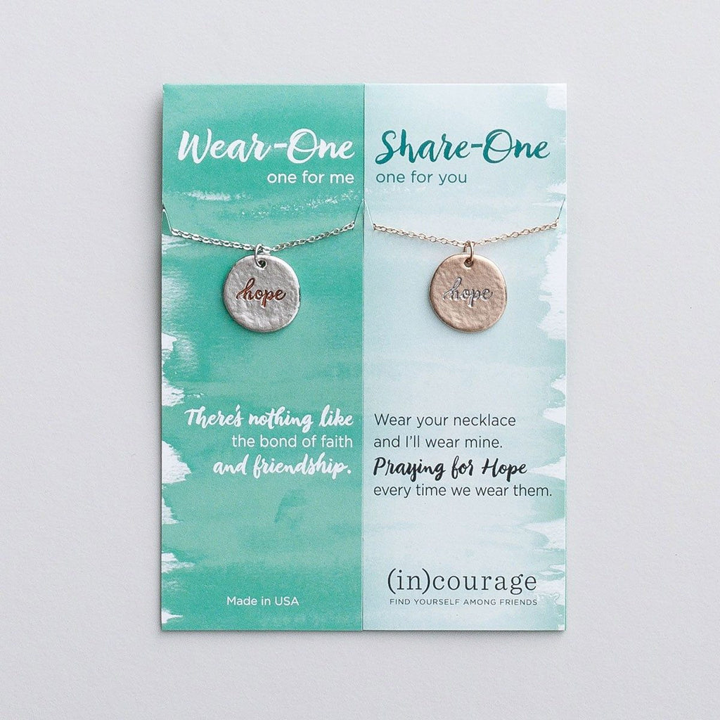 Hope (In) Courage Necklace Set | Wear One Share One | Hebrews 6:19