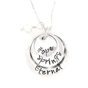 Sterling Silver Hand-Stamped Necklace | Hope Springs Eternal