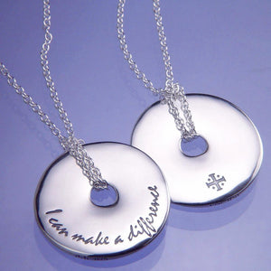 Sterling Silver Pi Disc Necklace | I Can Make a Difference