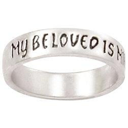 Sterling Silver Ladies' I Am My Beloved's, My Beloved Is Mine Ring