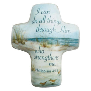 I Can Do All Things Through Him Artful Cross Pocket Token | Philippians 4:13