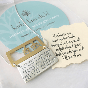 I'll Be There Sterling Silver Friendship Necklace | Kathy Bransfield
