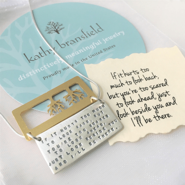 I'll Be There Kathy Bransfield Sterling Silver Friendship Necklace