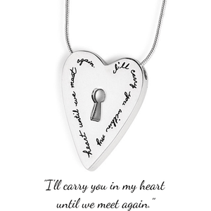 Sterling Silver I'll Carry You in My Heart Memorial Pendant Necklace | BB Becker