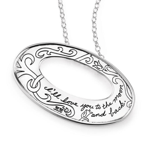 I'll Love You to the Moon & Back Sterling Silver Pendant Necklace | BB Becker
