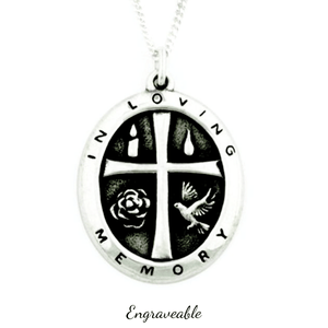 Sterling Silver In Loving Memory Necklace | Engraveable