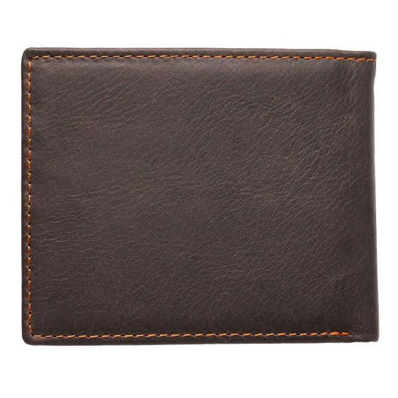 Brown Genuine Leather Men's Scripture Verse Wallet | Isaiah 40:31
