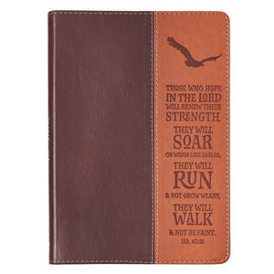 On Wings Like Eagles LuxLeather Two Tone Christian Journal | Isaiah 40:31
