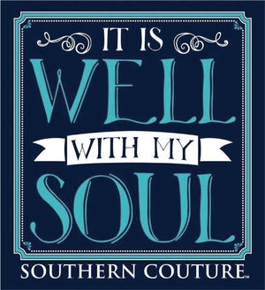 Southern Couture Long Sleeve Christian T-Shirt | It is Well with My Soul