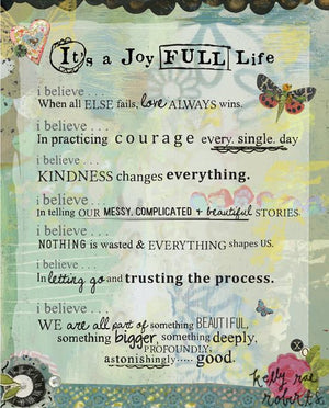 Kelly Rae Roberts It's a Joy Full Life Matted Print | Artist Hand Signed & Titled