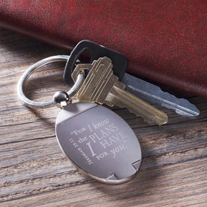 Jeremiah 29:11 Keychain | For I Know the Plans I Have for You | Gift Packaged