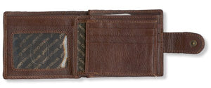 Brown Genuine Leather Men's Wallet with Scripture Verse | Jeremiah 29:11