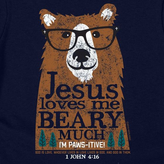 Jesus Loves Me Beary Much | Kerusso Kids Christian T-Shirt | Youth Sizes