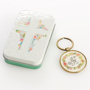 Scripture Verse Keyring | Be Joyful | Romans 12:12