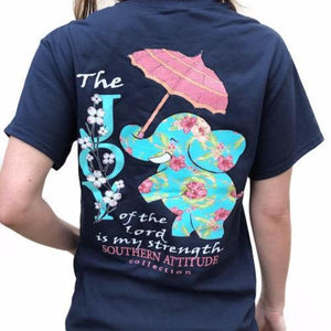 Southern Attitude Christian T-Shirt | The Joy of the Lord is my Strength | Elephant & Umbrella