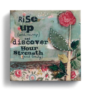"Rise Up 6"" x 6"" Canvas Wall Art 