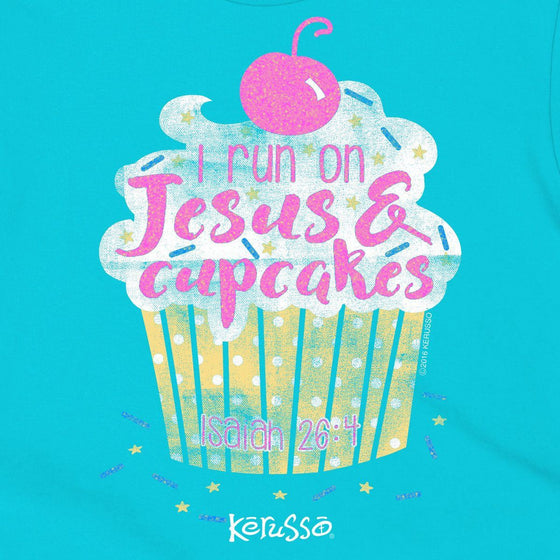 Cupcakes & Jesus | Kerusso Kids Christian T-Shirt | Youth Sizes