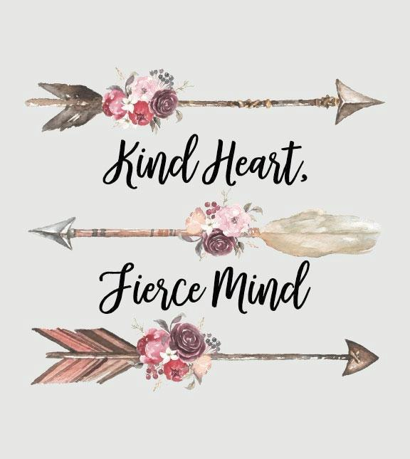 Southern Couture Raglan T-Shirt | Kind Heart Fierce Mind | 3/4 Sleeve