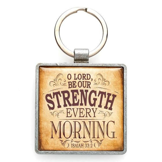 """Lord Be Our Strength"" Scripture Verse Keyring 