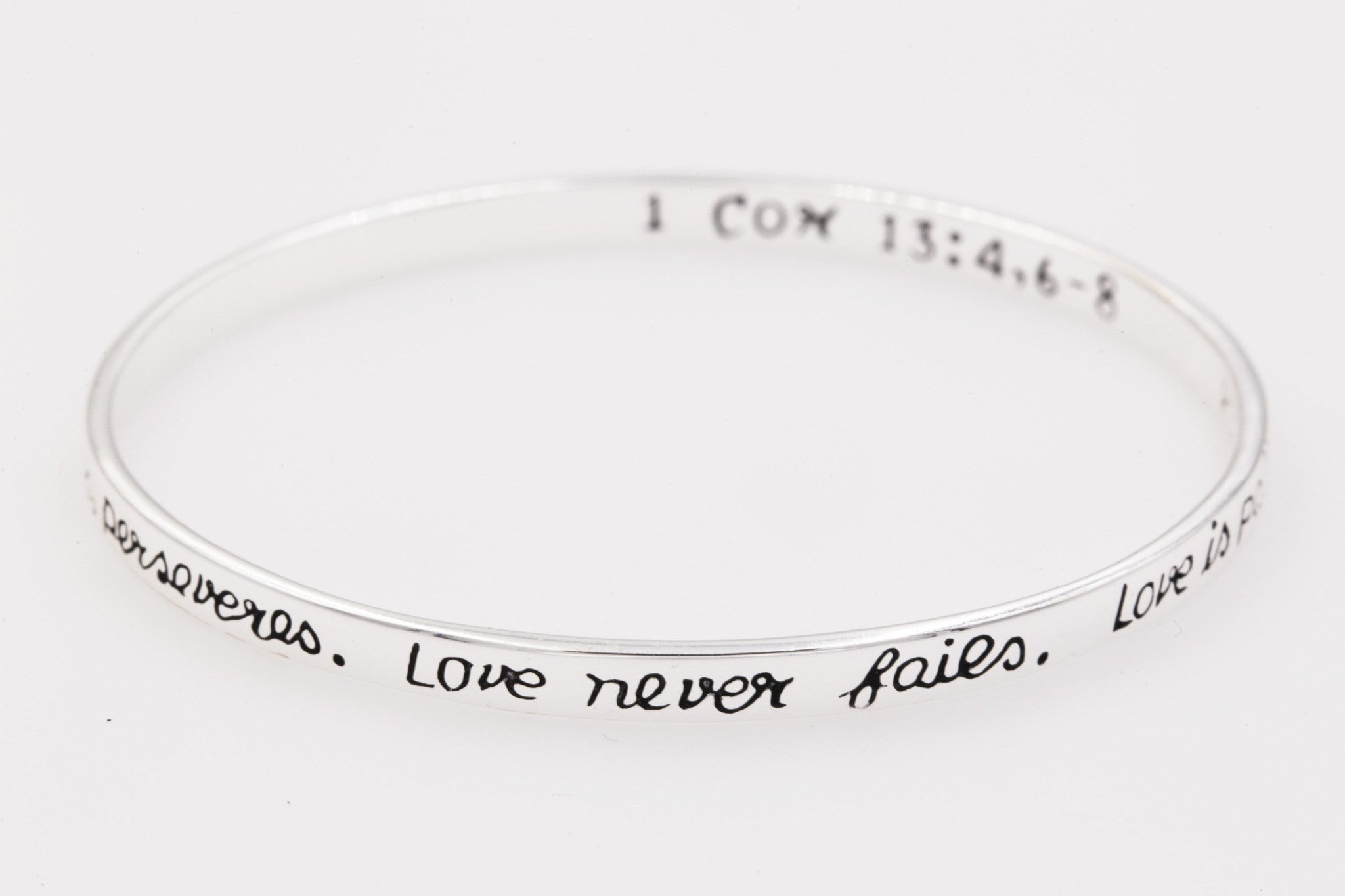 charm product bangles kraftykash one word love bracelet bangle