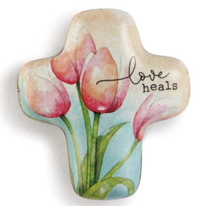 Love Heals Artful Cross Pocket Token
