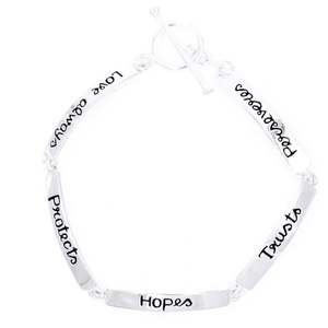 Sterling Silver 1 Corinthians 13 Link Bracelet | Love Always Protects, Hopes, Trusts, Perseveres
