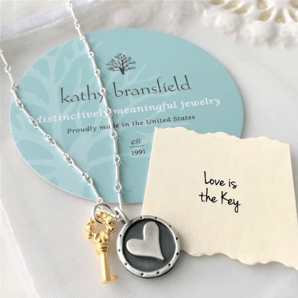 Kathy Bransfield Sterling Silver Necklace | Love is the Key