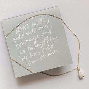Mary's Call Pendant Necklace | Howlite Stone