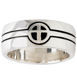 Sterling Silver Men's Cross Ring - They Became One