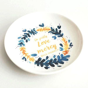 Handcrafted Jewelry Dish | Do Justly, Love Mercy, Walk Humbly | Micah 6:8