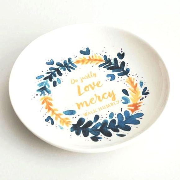 Handcrafted Jewelry Dish | Love Mercy | Micah 6:8