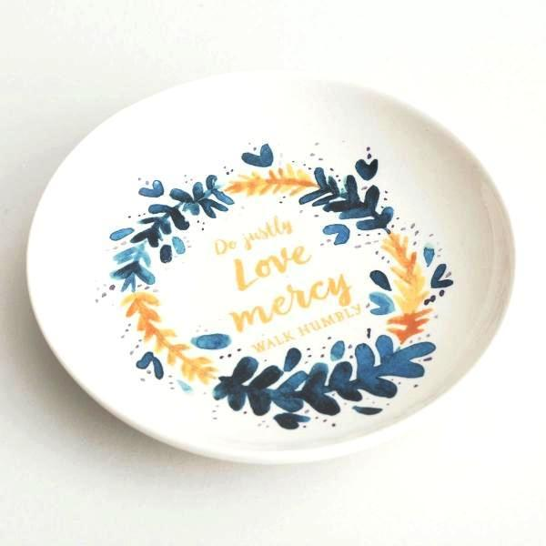 Jewelry Trinket Dish | Do Justly, Love Mercy, Walk Humbly | Micah 6:8
