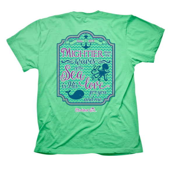 Cherished Girl by Kerusso Christian T-Shirt | Mightier Than The Waves | Free U.S. Shipping