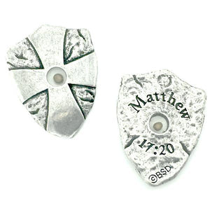 Fine Pewter Mustard Seed Shield Pocket Token | Matthew 17:20