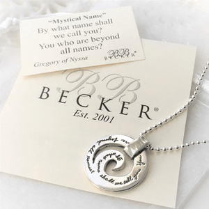 BB Becker Sterling Silver Pendant Necklace | By What Name Shall We Call You
