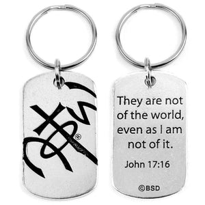 Pewter Faith-Based Keychain - Not of This World NOTW